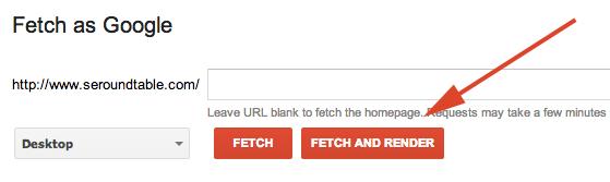 google fetch render